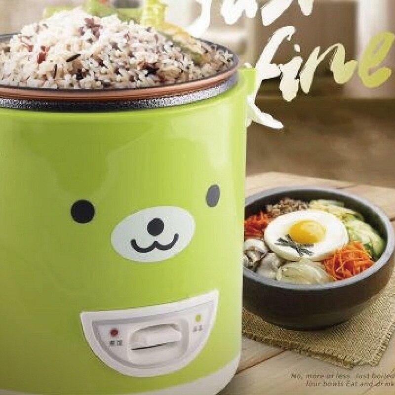جهاز طهي أرز صغير مُسخَّن ، 1 لتر ، منزلي ، طباخ أرز ، متعدد الوظائف ، صغير ، محمول ، كهربائي