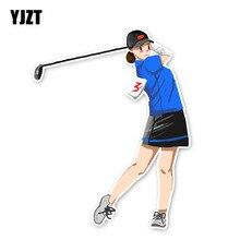 YJZT 13.9*10.9 سنتيمتر فريد الغولف فتاة المتطرفة الرياضة الجرافيك سيارة ملصقات الاكسسوارات 11A-1967