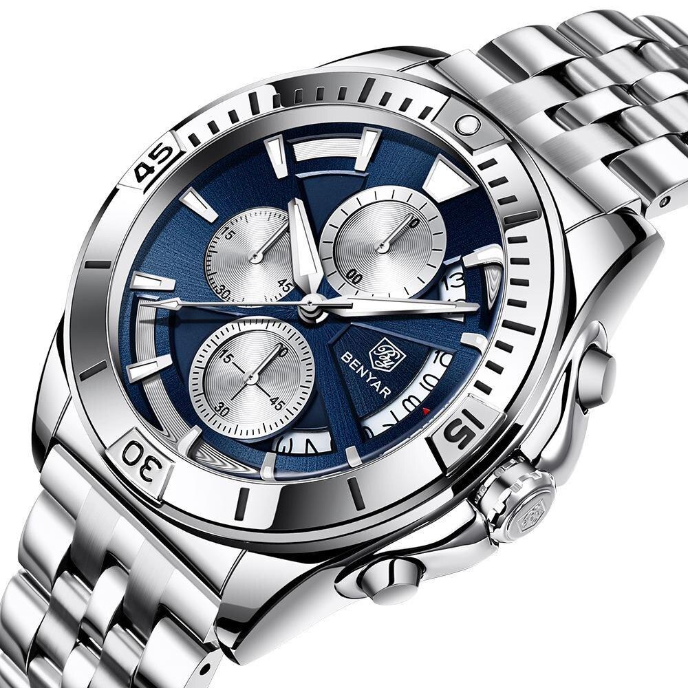 New Watch Men's Quartz Watch Multifunctional Waterproof Men's Watch 5180 Fashion Mechanical Watches