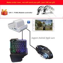 Contrôleur de manette Mobile clavier de jeu convertisseur de souris pour tous les jeux de tir Apple Android téléphone Ipad avec cadeau gratuit