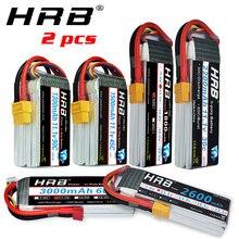 2 unités HRB RC Lipo batterie 3S 11.1v 1300mah 1500mah 2200mah 2600mah 3000mah 45c 60c 90c deans plug pour rc drones Airplne Cars