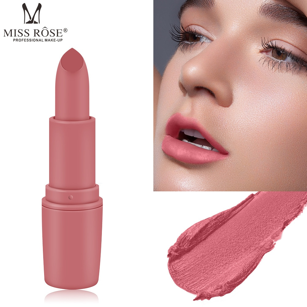 Miss Rose bullet lipstick matte bean paste brick red aunt color net student new pot rule crying month wash too hot