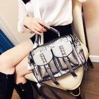 fashion handbags personality trend shoulder bag pu soft leather leopard print trend ladies pillow torebki cross body bag woman