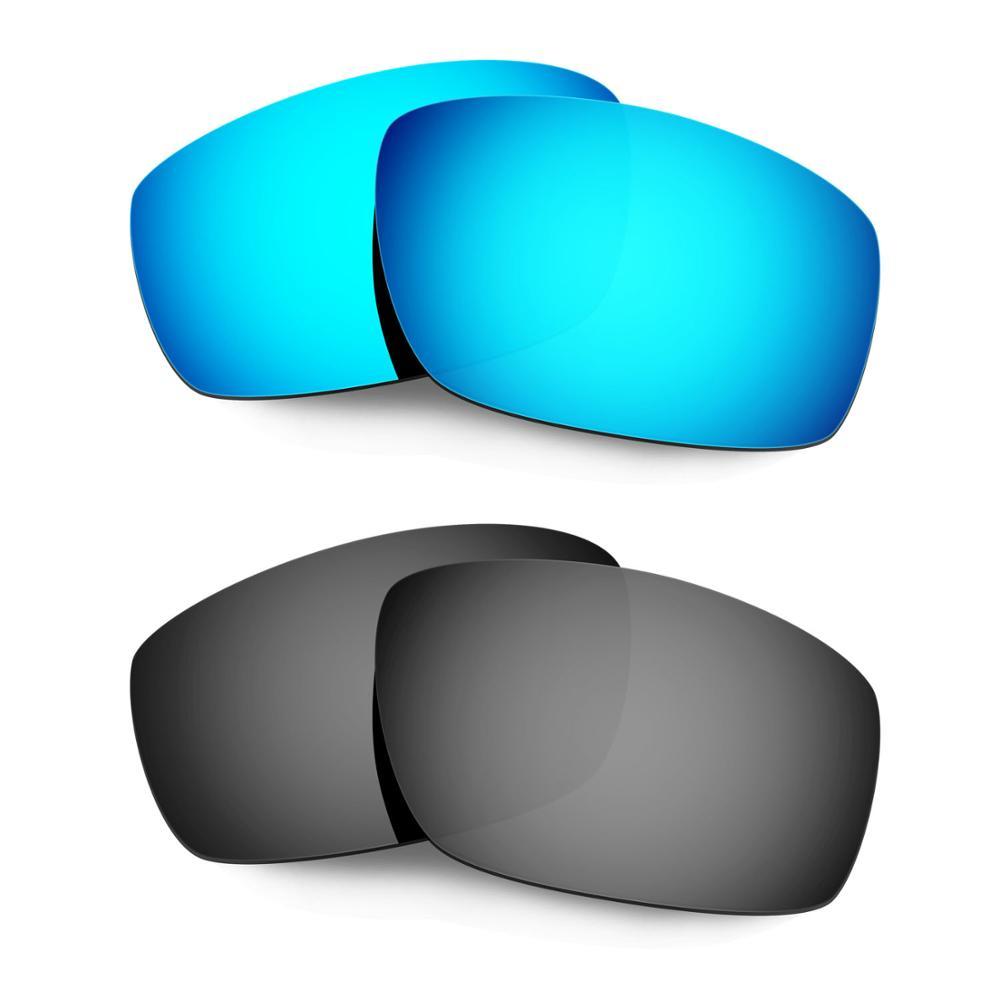 HKUCO ل منشقة النظارات الشمسية استبدال العدسات المستقطبة 2 أزواج-الأزرق والأسود