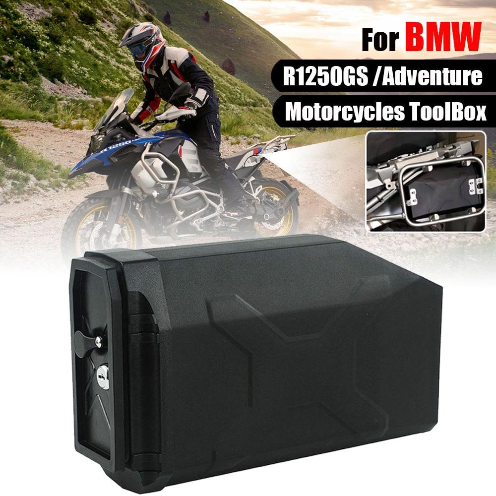 Toolbox Inner Bag For BMW R1250GS Adventure R 1250 GS R1250 ADV LC 2018-2020 Left Side Bracket Plastic Box Tool Box With Locks