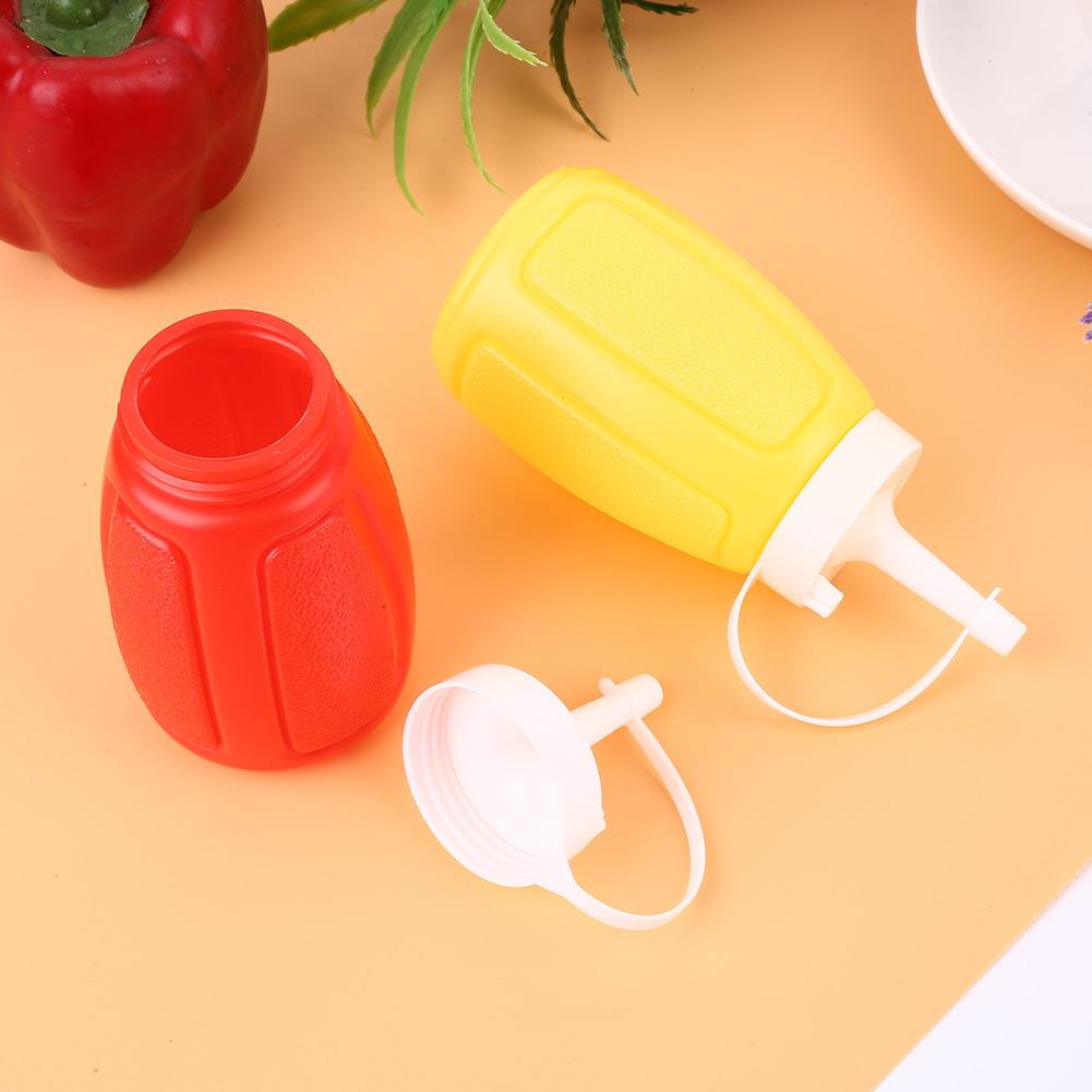 SOLEDI botellas de plástico apretadas con tapa 200mL kétchup ensalada dispensador de almacenamiento botella de condimento útil tomate mayonesa