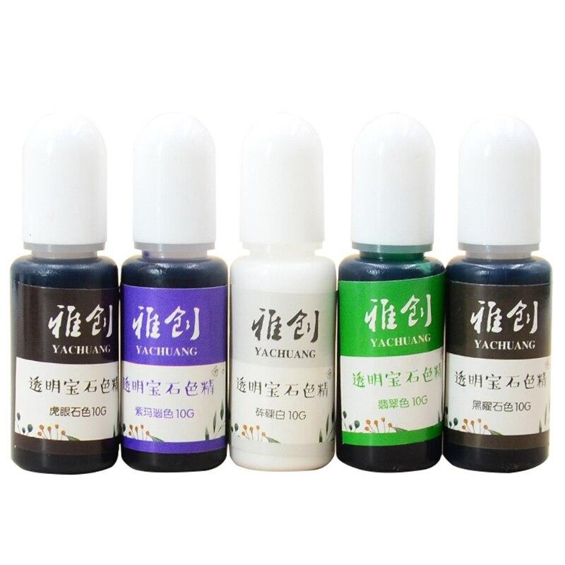18 Colors Epoxy Resin Pigment Liquid Resin Colorant Pigment Resin Colorant Dye Resin Jewelry Making Art Crafts Tools HX6F