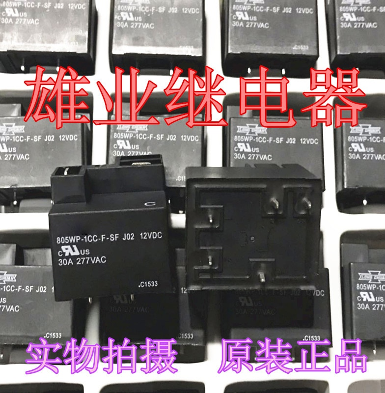 New  5Pcs/Lot   805WP-1CC-F-SF J02 12VDC 30A 5  Relay