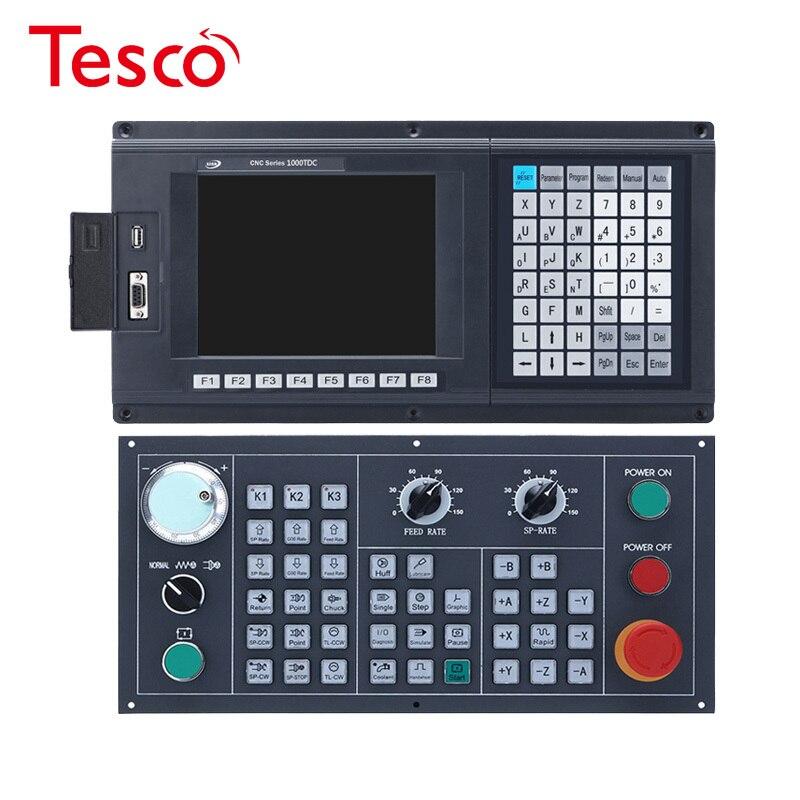 2 eixos torno & turnning cnc controlador com novo inglês painel de controle braço + dsp fpga usb cnc kit completo