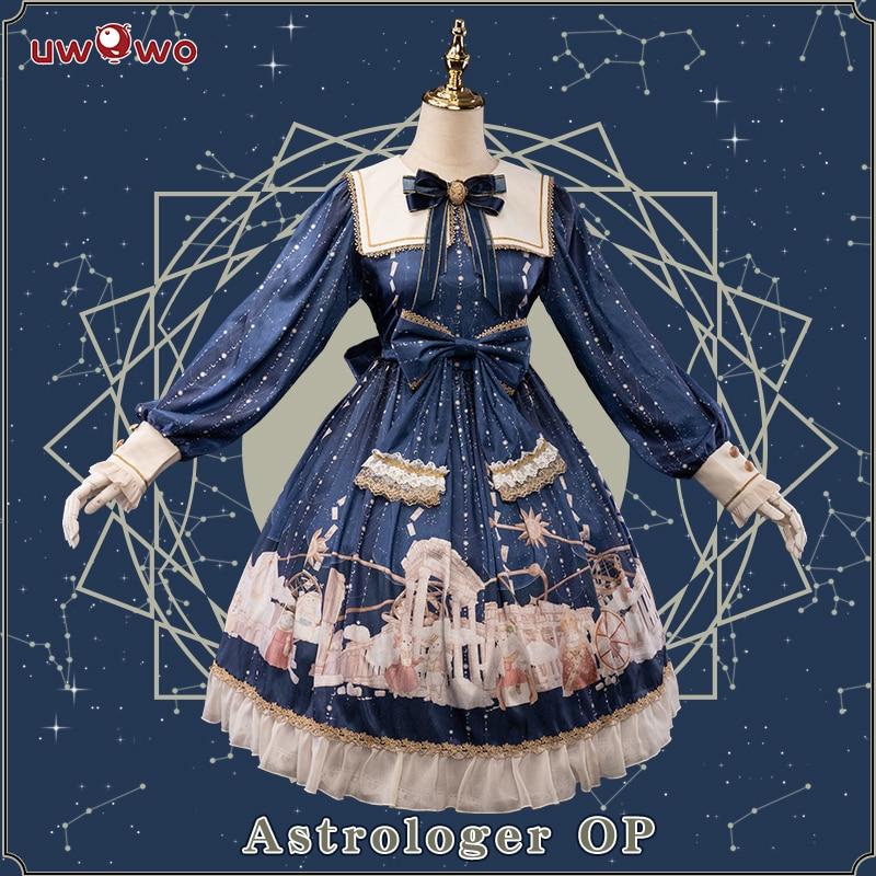 التخليص-UWOWO التصميم الأصلي المنجم OP فستان المرأة لوليتا موضة زي المرأة فتاة الزي ازياء