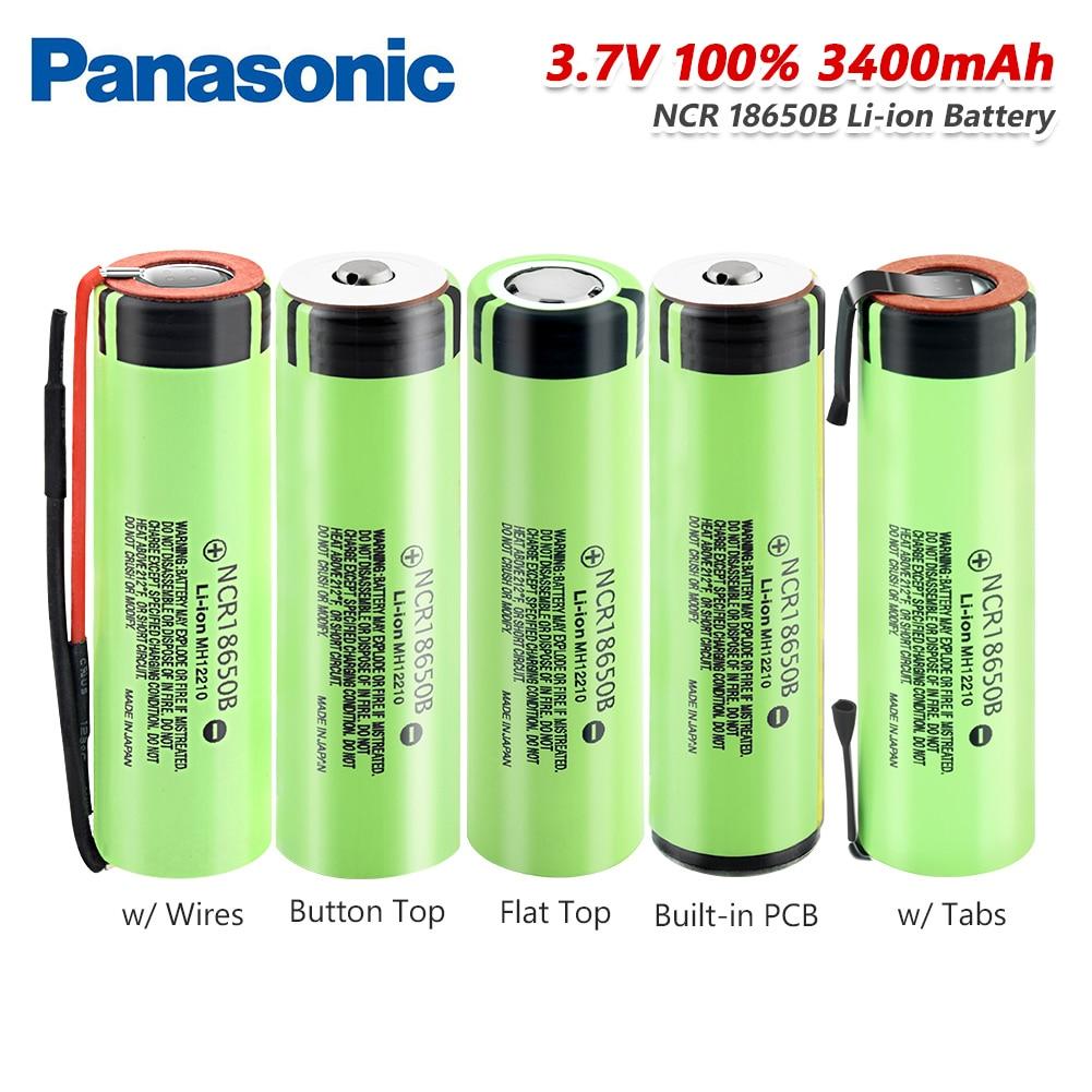 Panasonic 1x3,7 v Высокая утечка 20a Ncr18650b Батарея 3,7 V 3400mAh 18650 литий-ионная Pilas для фонарь Мощность банк светодиодный фонарик