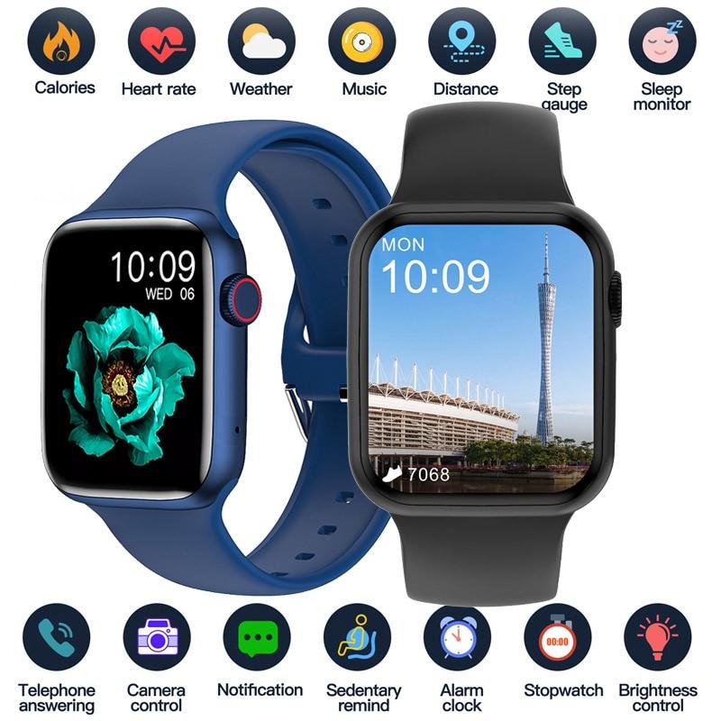 2021 Bluetooth Call Smart Watch 1.75 Inch Full Touch Big Screen Sport Smartwatch Men Women Sleep Hea