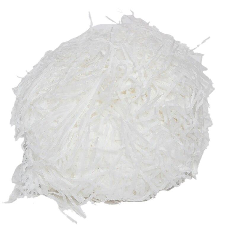 ELEG-100g de lujo blanco tejido triturado regalo de papel caja de dulces