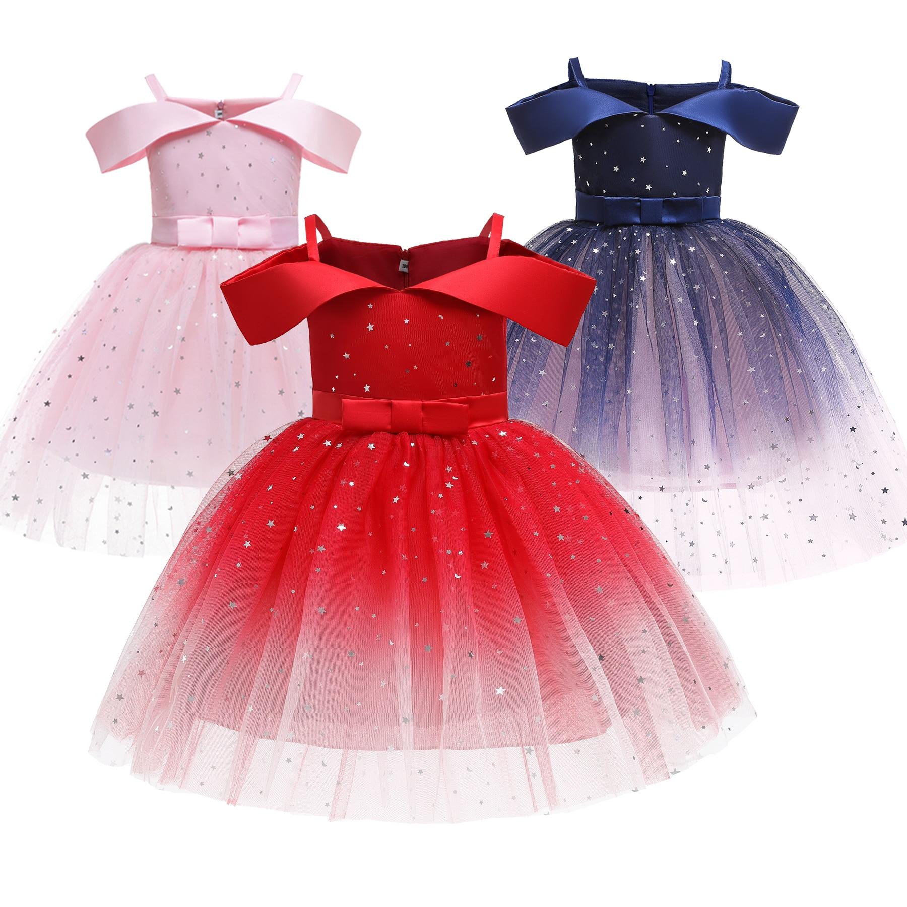 м мадера долина эдельвейсов и день рождения принцессы Платье принцессы на свадьбу, день рождения, Рождество, праздник, Тюлевая пачка с блестками, одежда для детей, милое платье для девочек