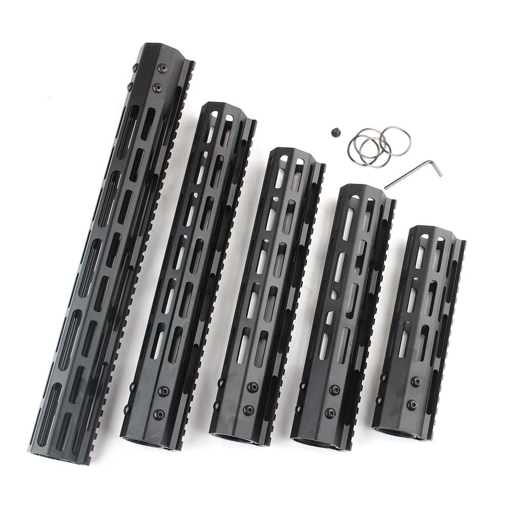 m4 m16 free float quad rail ar 15 tactical handguard picatinny quad rail mount for m4 m16 10 12 15 inch AR15 M4 M16 M-LOK Handguard 7/10/12/15 Ultralight Slim Free Float Aluminum Handguards Rail With Steel Nut