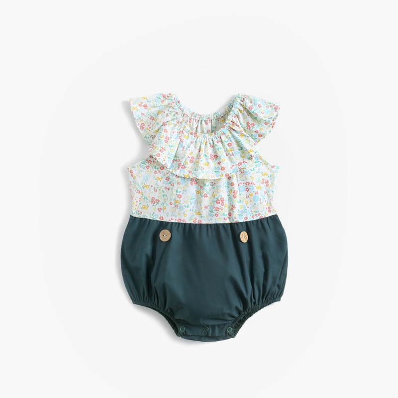 ATUENDO Summer Cute Newborn Baby Rompers 100% Cotton Fashion Girl's Silk Clothes Jumpsuits Kawaii Sa