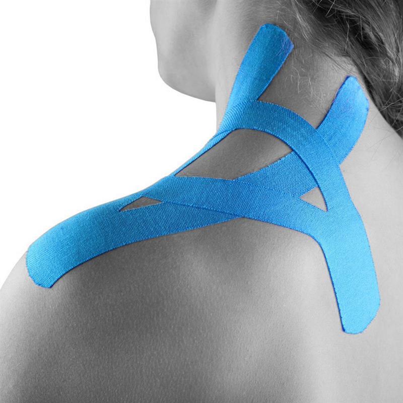 Cinta elástica impermeable para Kinesiología atlética vendaje muscular adhesivo de algodón para lesiones deportivas protección de tensión muscular