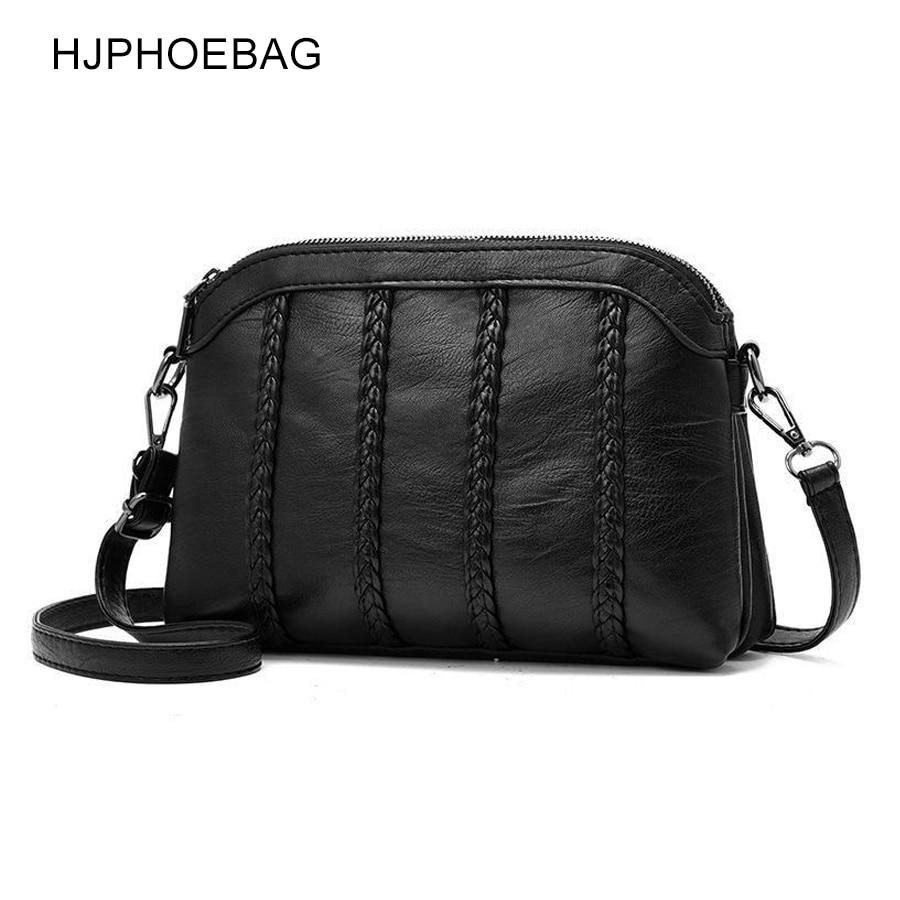 HJPHOEBAG, nuevo bolso de hombro femenino de cuero PU, bolsa cruzada para mujer, 2019, bolsa de mensajero de moda, bolsas pequeñas con solapa para señora YC266