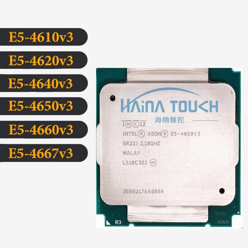 Intel Xeon CPU E5-4610V3 4620V3 4640V3 4650V3 4660V3 4667V3 SR22S 1.70GHz 10-Cores 25M LGA2011-3 Processor