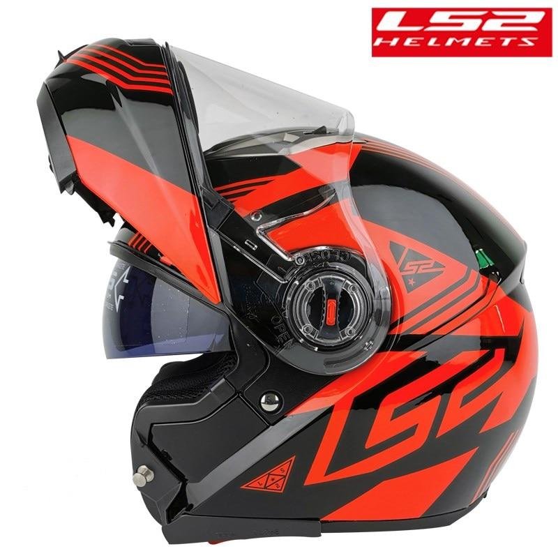 100% LS2 ff370 Flip up Motorcycle helmet casco de moto cafe racer helmet Full Face dual lens visor capacetes de motociclista ECE