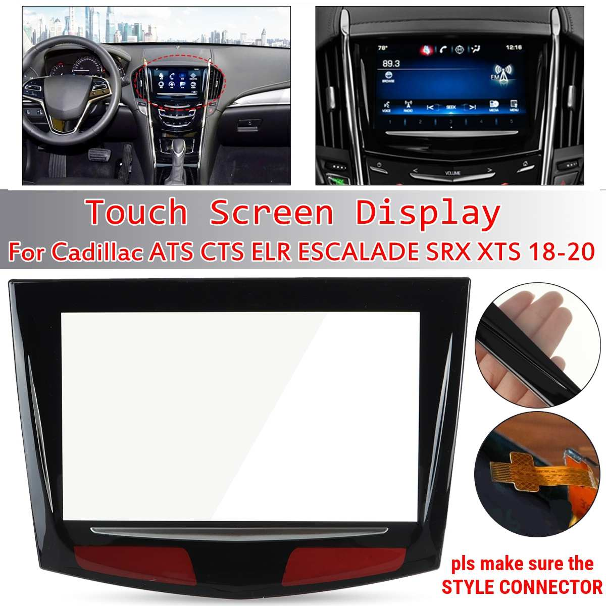 1PCS Touch Screen Display For Cadillac Escalade ATS CTS SRX XTS CUE 2018 2019 2020/2013 2014 2015 20