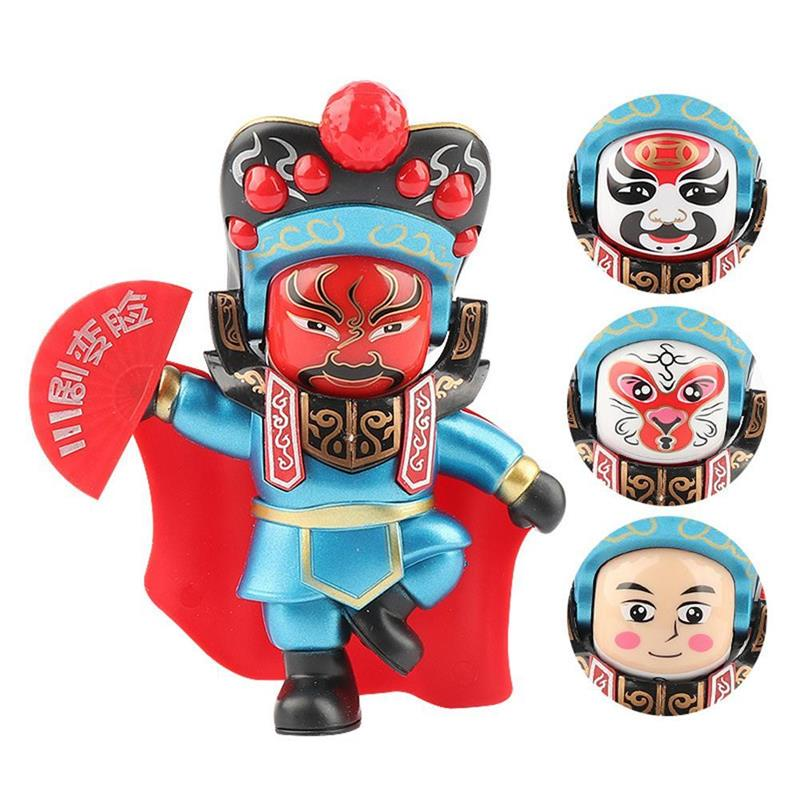 Change Face Peking Opera Dolls Traditional Chinese Folk Craftwork Sichuan Chinese Opera Doll Action Figure Toys Gift