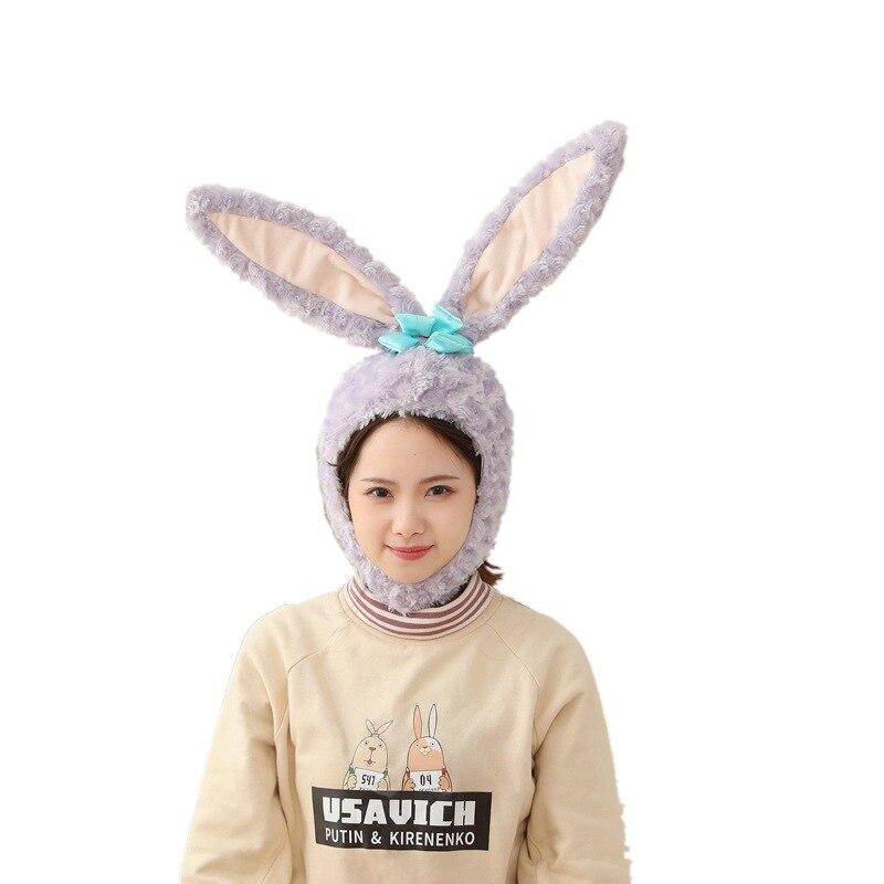 Hot New Rabbit Ears Animal Cosplay Costumes Props Cartoon Cute Bunny Hat Take Photo Cap Web Celebrity
