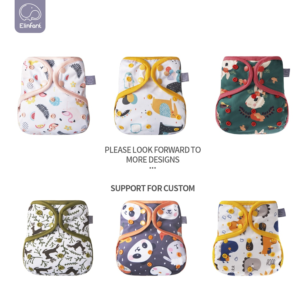 Elinfant 10pcs Waterproof pul Fit 10-20kg  Bigger Size Ecological Baby Diaper Cover Wholesale Dropshipping enlarge