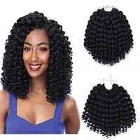 aidaiya 8 jumpy wand curl twist crochet braids jamaican bounce african synthetic ombre braiding hair for women black