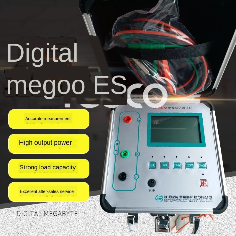Instrumento de teste de resistência de isolamento digital display isolamento tremendo relógio