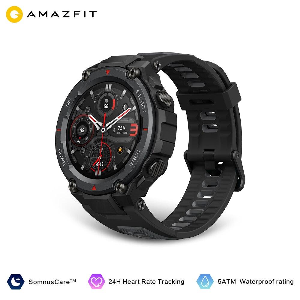 Amazfit-ساعة متصلة Trex Pro لهواتف Android و Ios ، مع التحكم في الموسيقى ، GPS/GLONASS ، شاشة AMOLED مقاومة للماء حتى 10atm