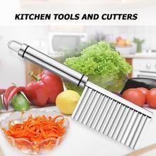 Couteaux à pomme de terre à bord ondulé   Acier inoxydable, coupe-légumes et Fruits à gratter écologique accessoires de Gadget de cuisine