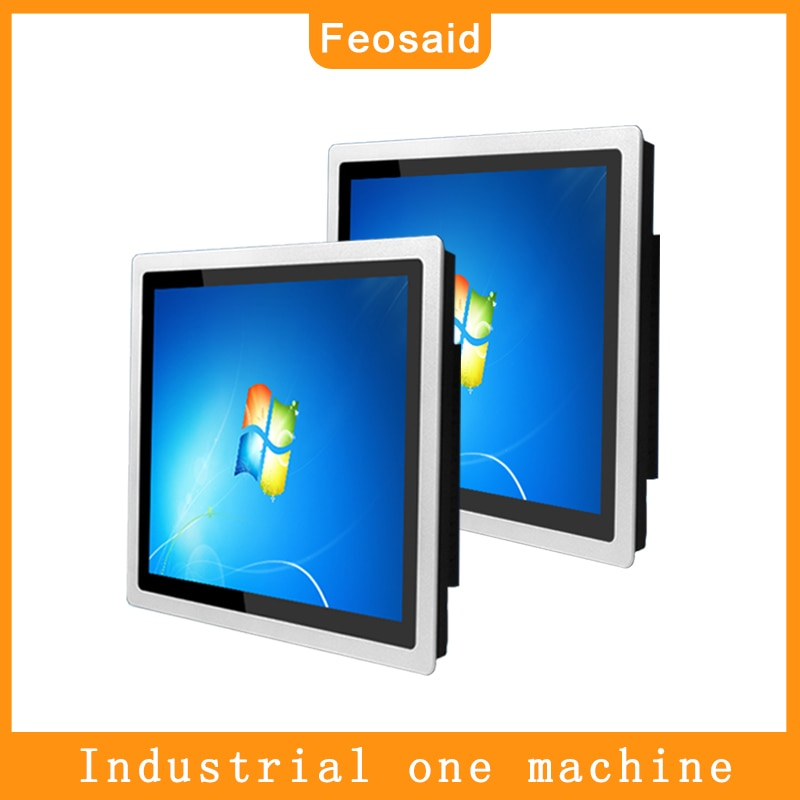 Feosaid 10.4 inch Embedded industrial capacitive touch computer Metal shell Ordering machine 16G RAM core i3 i5 i7