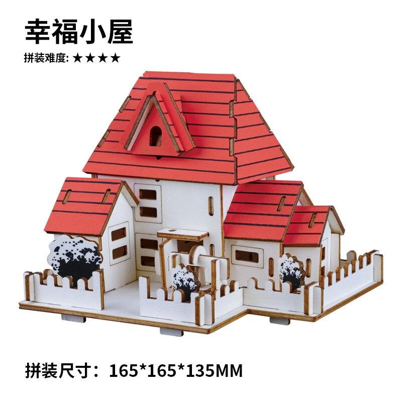3D Трехмерная сборная головоломка, деревянная модель, игрушка, лазерная резка, украшение, деревянная головоломка, модель игрушки