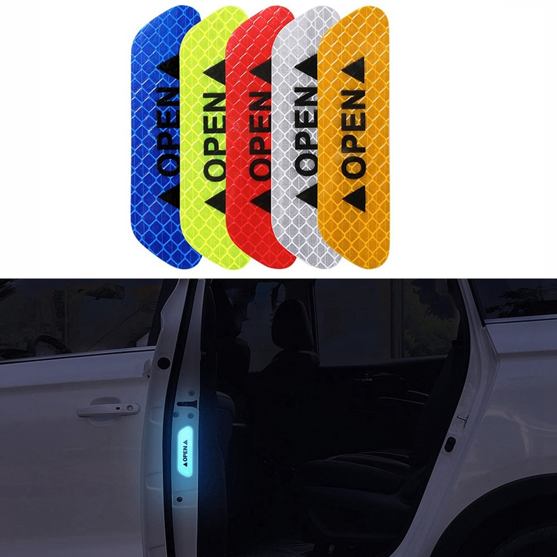 4 unids/set de la correa reflectante abierta del coche señal de advertencia reflectante para Chevrolet Cruze TRAX Aveo Lova vela EPICA Captiva Malibu