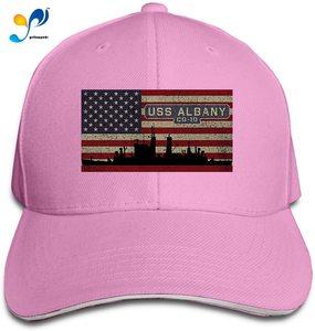 USS Albany Cg-10 Unisex Sandwich Baseball Cap