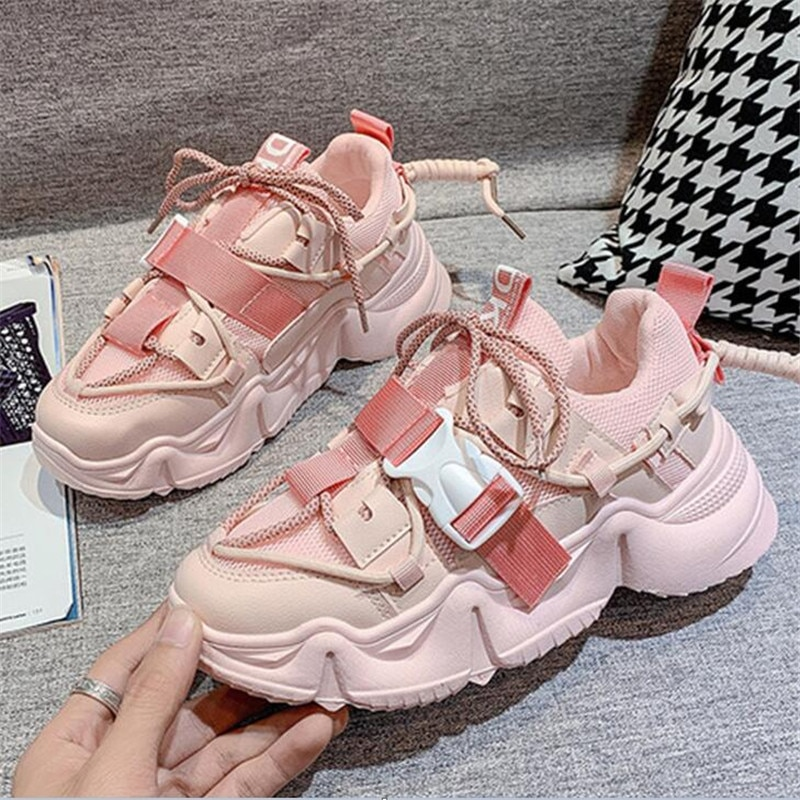 Women Chunky Sneakers Fashion Platform Sneakers Brand Designer White Casual Shoes Woman Breathable Mesh Dad Sports Shoes Female fashion chunky sneakers runway mixed colors v design sole shoes round toe leisure shoes mesh patchwork dad shoes