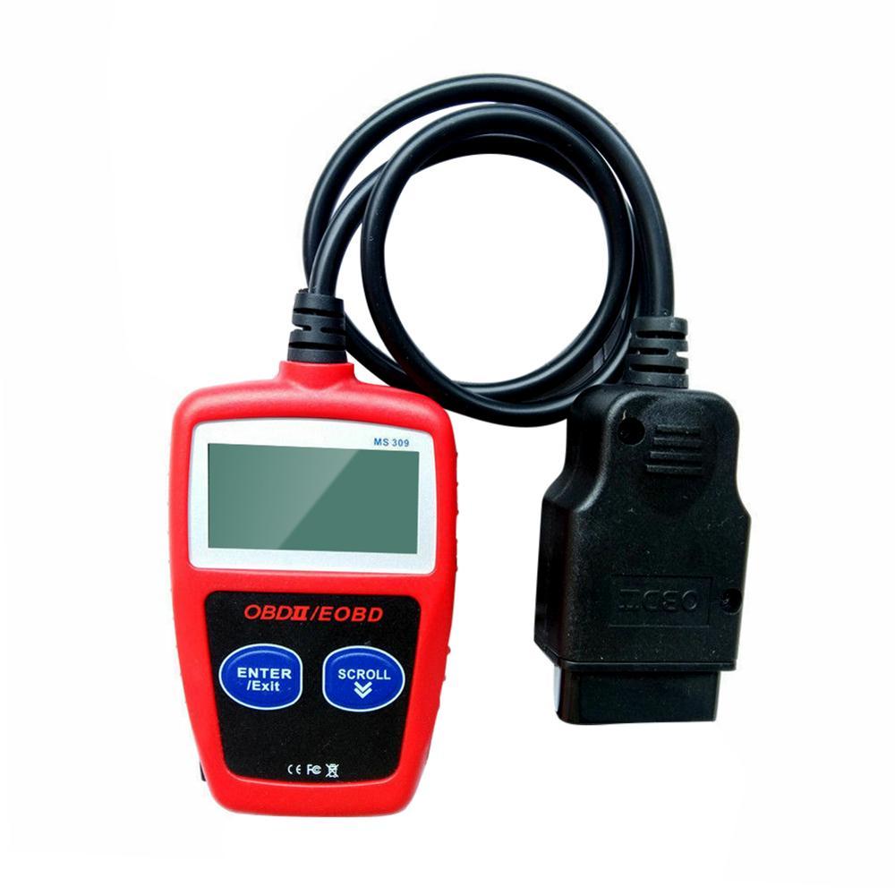 OBD2 считыватель кодов MS309 сканер OBDII EOBD CAN автомобильный двигатель авто диагностический инструмент проверка транспортного средства светильн...