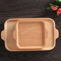 japanese wooden serving plate fruit dessert cake platter tray decorative food serving tray breakfast tray home accessorise tool