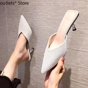 Summer New Women's Shoes High Heels Fashion Wear High Heel Sandals Fine Heel Slippers Fairy Style Women's Shoes