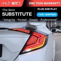 car tail lights automotive parts honda civic x mk10 10gen 2016 2020 taillights rear lamp led signal reversing parking lights