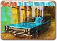 1967 amc ambassador tin metal signs vintage cars sisoso plaques poster bar pub retro wall decor 16x12 inch