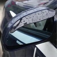 2pieces car side mirror waterproof sun visor rain eyebrow accessories for honda civic city accord odyssey spirior cr v cr z crx