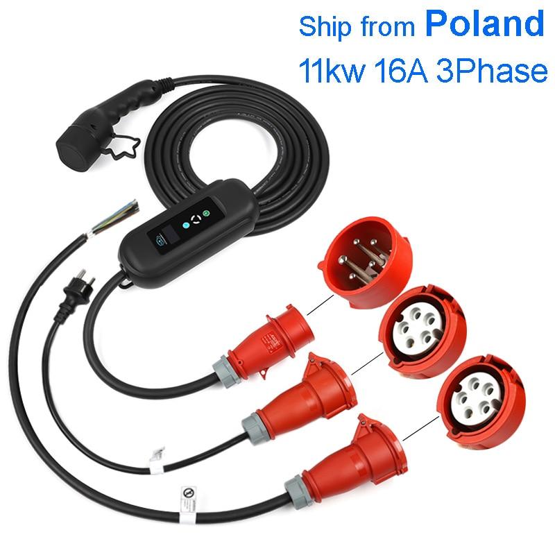 شاحن الطاقة للسيارات مع مقابس كهربائية جدار 11kw Mennekes نوع 2 220 فولت معدات الخدمة سيارة الترباس ev