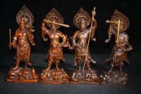 8 chinese seikos bronze four heavenly kings door god statues four guardians four diamond good weather and good weather