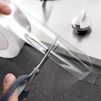 wall corner line sticker transparent acrylic waterproof mildew proof self adhesive tape sink line stick for bathroom kitchen