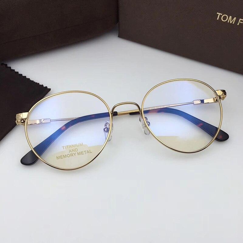 2021 توم للرجال العلامة التجارية إطارات نظارات بصر TF5418 Forde المعادن النساء الرجال القراءة قصر النظر وصفة طبية نظارات الأصلي