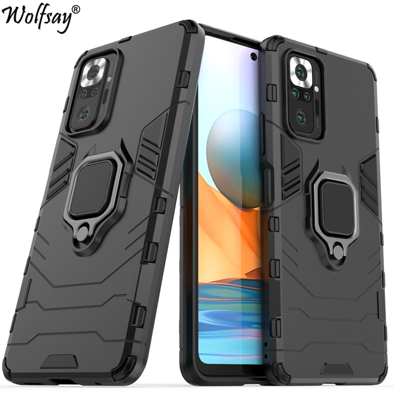 For Xiaomi 11T Case Armor Magnetic Suction Stand Full Cover For Mi 11T 10T Pro 11i 10 11 Lite 5G Cas
