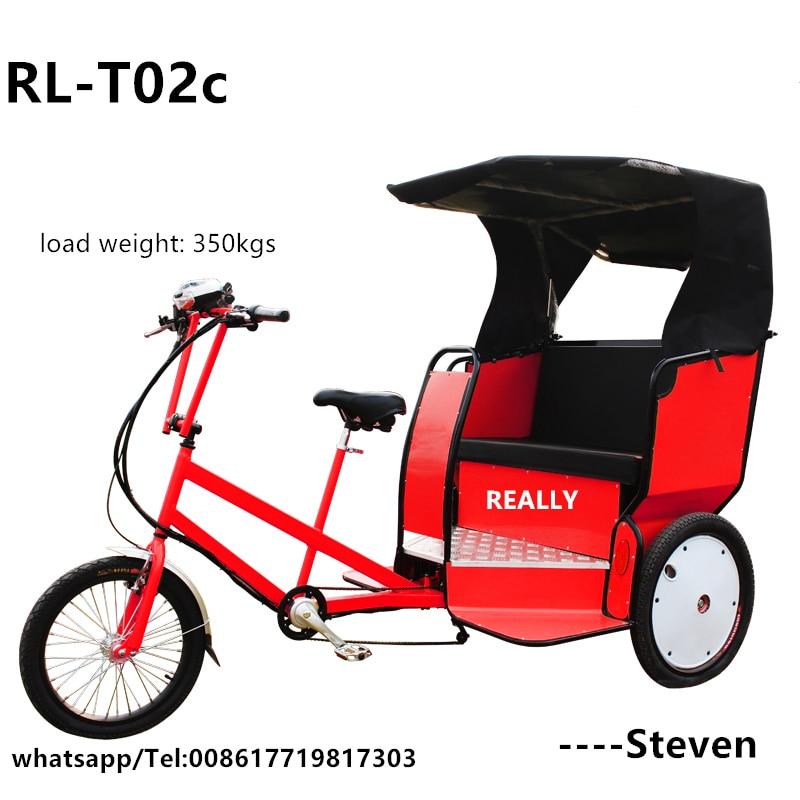 RL-T02 3 ruedas pedal de triciclo Carro de pedales triciclo entrega carro eléctrico Bicitaxi