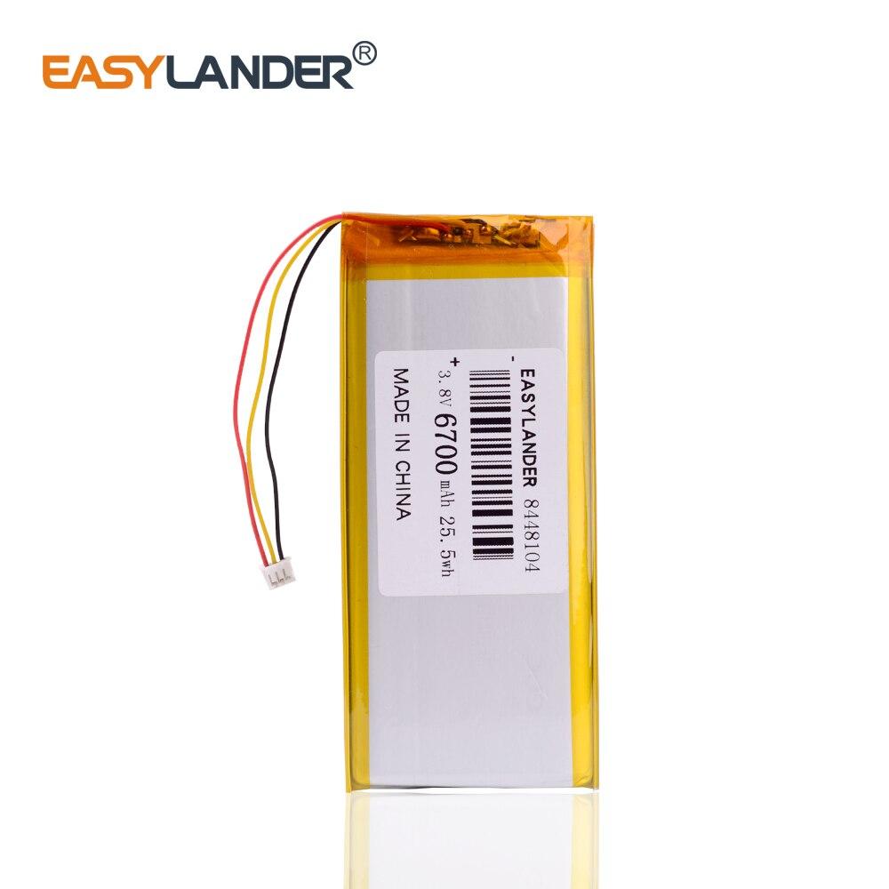 3 hilos 8448104 3,8 V 6700MAH (batería de iones de litio de polímero), baterías recargables de ion de litio para tableta pc Gpd Win 1